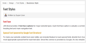 Font Face Business Special