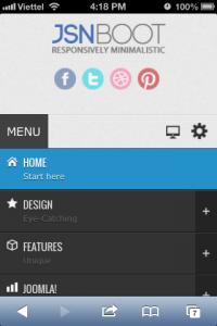 Special designed mobile menu system