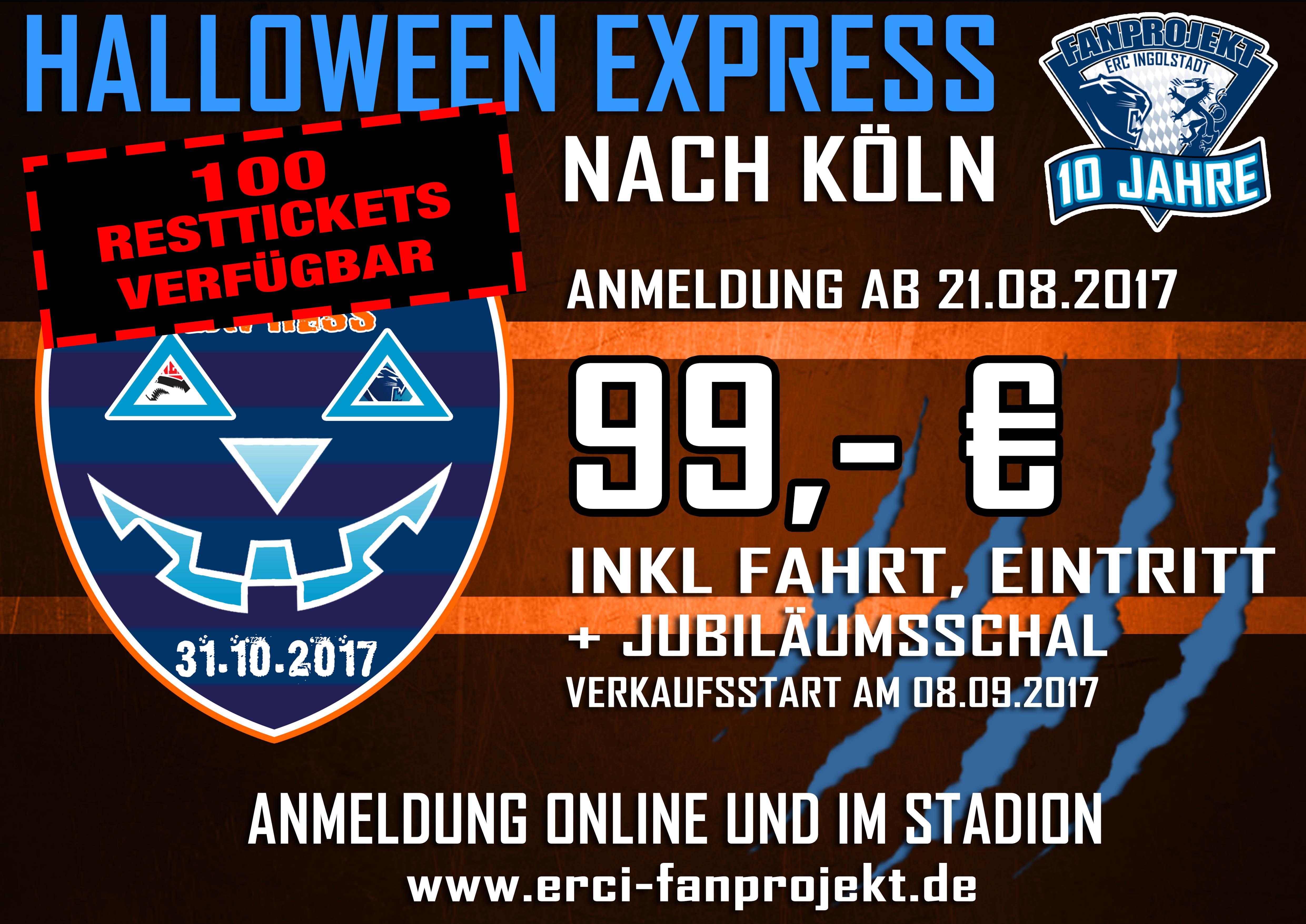 Sonderzug Tickets sichern – nur noch 100 Stück verfügbar